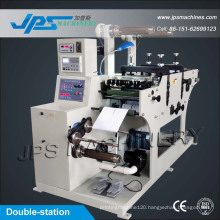 Double-Station Security Label Sticker Die Cutting Machinery with Slitting Function