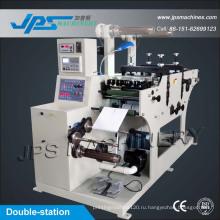 Двусторонняя машина для наклеивания этикеток для наклеивания этикеток с функцией резки