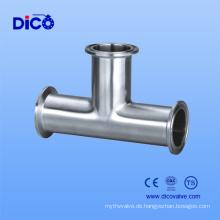 Soem-Edelstahl-gesundheitliches Klammern-T-Stück in China-Hersteller