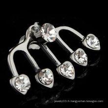 Boucle d'oreille de mariage en 2015 Boucle d'oreille Boucle d'oreille en cristal en forme de coeur EC20