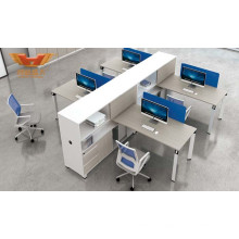 Melamine Straight Office Partition Workstation with Metal Leg (H50-0215)