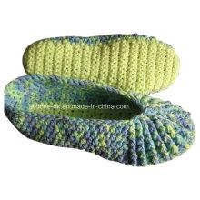 Пользовательские OEM ручной вязать крючком шерсть тапочки обувь носки