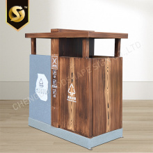 Twin Trash Can Cover Outdoor Dustbin