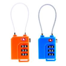 Tsa21100 Cable Shackle Combination Lock 3-dials código com uma chave