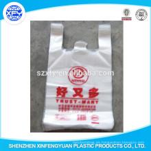 Transparent Plastic Vest Or T-Shirt Bolsos de compras