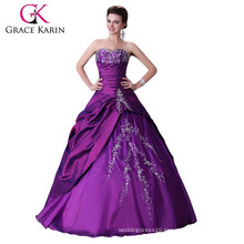 2015 Purple Grace karin sweetheart Quinceanera Dresses Strapless high quality and cheap CL2515