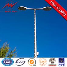 Ronda 12m poste de iluminación de postes de acero galvanizado en caliente