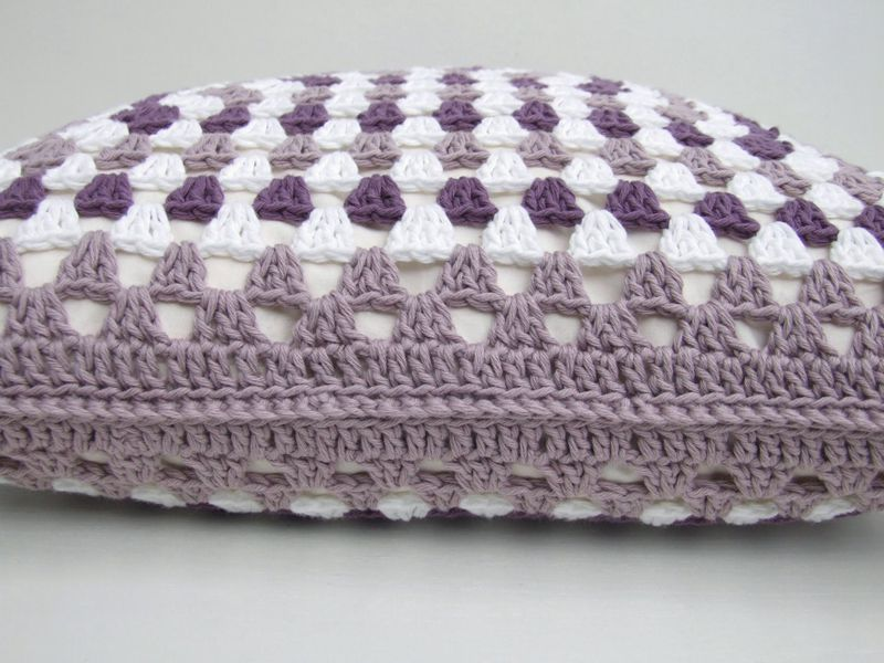 2 4crochet Cushion Cover