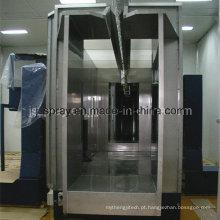 Cabine de pó de aço inoxidável para pulverização de pó