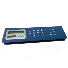 8 chiffres PVC Face Memo Flip Over Pencil Case Calculator