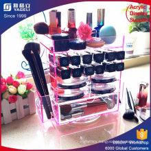 Pink Clear Acrylic Makeup Organizer