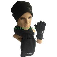 Hiver Cheap Good Quality Warm Boy and Girl Polar Fleece Hat Gant Écharpe 3PCS Sets Promotion