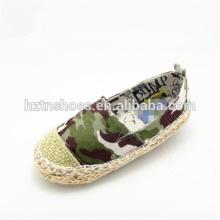 Crianças sapatos casuais listrados e sapatos de lona camo sapatos espadrille para meninas