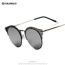 BJS009 Cramilo Branded fashion flower rim vintage women sunglasses