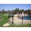 Прочный черный металлический забор для бассейна / ограждение для бассейна / временное ограждение для бассейна