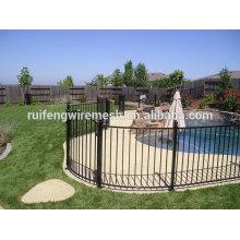 Valla de piscina de acero negra duradera / Valla para piscina / Valla para piscina terciaria