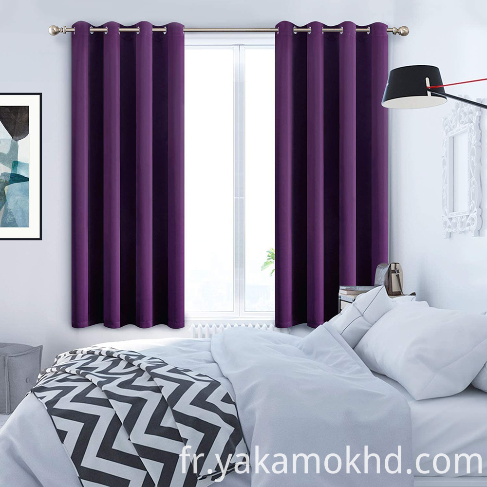 Purple Blackout Curtains