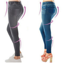 Frauen abnehmen Push up hohe Taille Jeans Leggings (50110)
