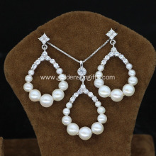 Imitation Pearl Jewlery Sets with Pendant and Earrings