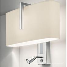 Hot-Sale Modern Aluminum Fabric Shade LED Wall Lamp