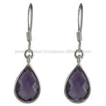 Amethyst Gemstone 925 Sterling Silver Drop Earring