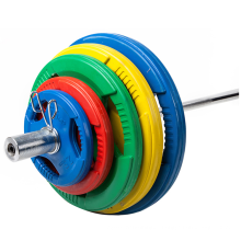 Cross GYM Fitness Equipment Competition Weight Lifting Tri Grip Rubber Coated Bumper Plates