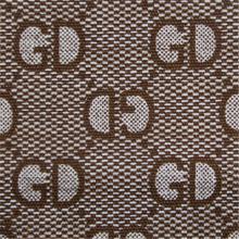 Toile de coton imprimée avec fond teint