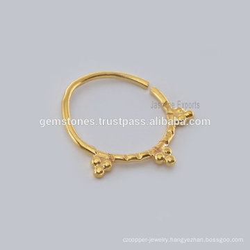 Wholesale Indian Septum Nose Ring Body Jewelry, Wholesale Handmade Gold Plated Piercing Nose Ring Manufacturer