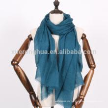 bufanda de cachemira de color verde azulado oscuro para la primavera