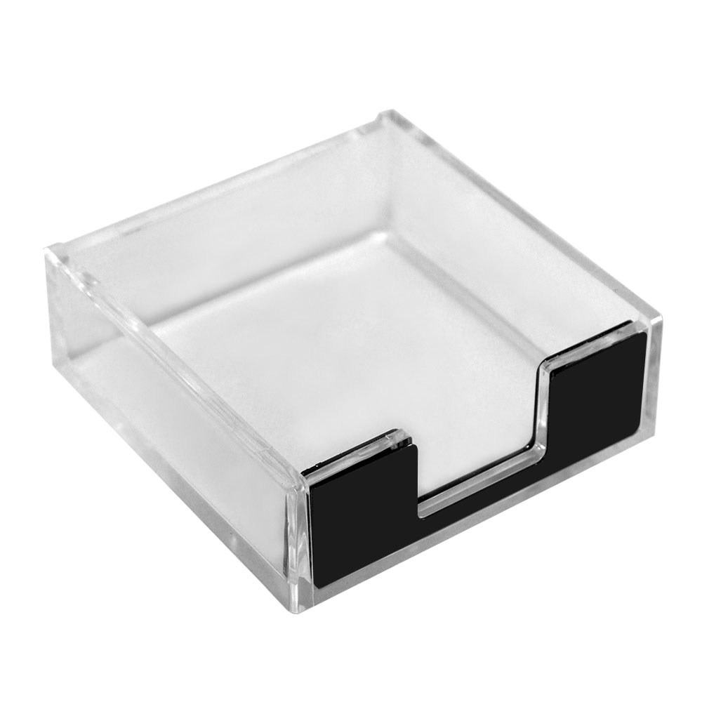 Acrylic Notepad Holder Clear And Black