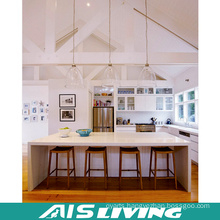 White Lacquer Kitchen Cabinets Furniture with Island (AIS-K329)