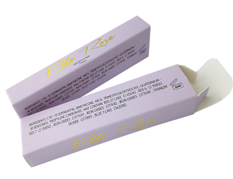 Cute Purple Lipstick Packaging
