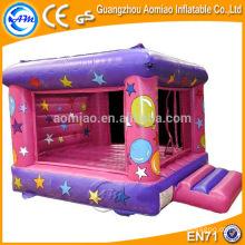 Castillo inflable rosado y púrpura, bouncer inflable del trampolín inflable del gorila de aire de la alta calidad para la venta