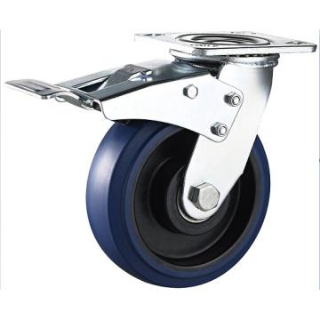 Heavy Duty Blue Elastic Rubber Casters