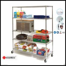 Chrom-Metall-Lebensmittel-Regal für Einzelhandels-Regale mit NSF-Zulassung