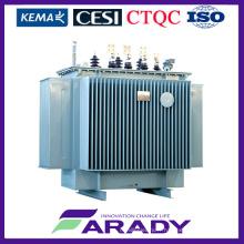 Transformateur de puissance immergé dans l'huile de 3 phases du transformateur 1500 kVA