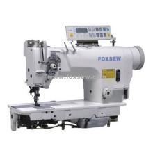 Máquina de coser de doble pespunte con aguja fija y accionamiento directo controlado por computadora