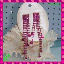 Hermosa pendientes de gota grandes ornamento Pendientes de corazón de melocotón, pendientes de joyería