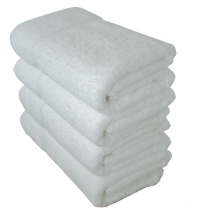 500g Luxury Cotton Made in China Bath Towel, White