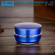 YJ-BA15-B 15g cor personalizável escuro azul pintado 0,5 oz camadas dobro frascos cosméticos creme