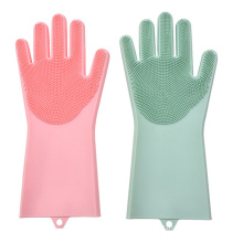 Wholesale silicone dishwashing hand reusable dishwasher household cleaning scrubbing silicone g loves
