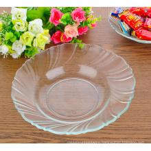 Eco-friendly Glass Salad Plate,Glass Circular Plate,glass dinner plate