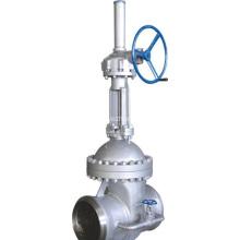 Válvula de compuerta de acero fundido con válvula de derivación