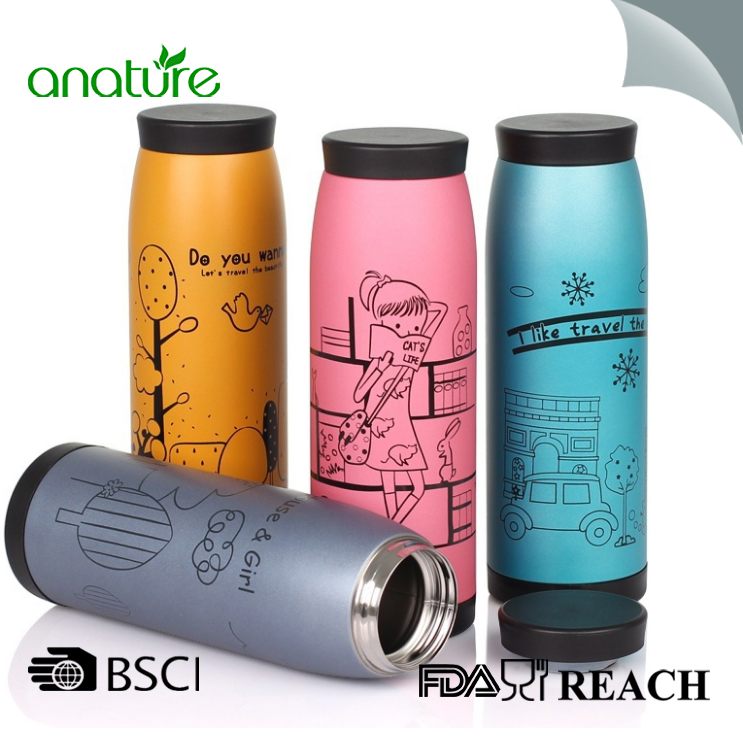 Stainless Steel Wide Mouth Student Vacuum Flask