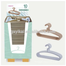 CHEAP SAILING Set of 10 plastic hangers for clothes in small display case