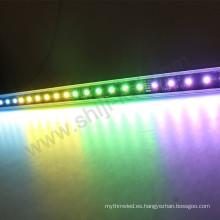 Color de la luz DMX que cambia la barra de aluminio IP66 barra de tira llevada al por mayor del rgb de 24v