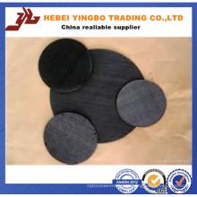 3,0 mm 3 '' X 3 '' schwarzes PVC-beschichtetes Hardware-Tuch