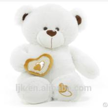 Maßgeschneiderte Plüschtiere benutzerdefinierte Stofftiere weißer Teddybär