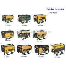 2.5kw 6.5HP Refroidissement par air Démarrage électrique 220V 380V Essence Portable Mobilier 8500w Générateur d'essence