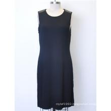 Ladies Sleeveless Knit Round Neck Sweater Dress